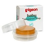 PIGEON Baby Transparant Soap Chamomile with Case 80gr [PR060102] - Sabun Mandi Bayi dan Anak